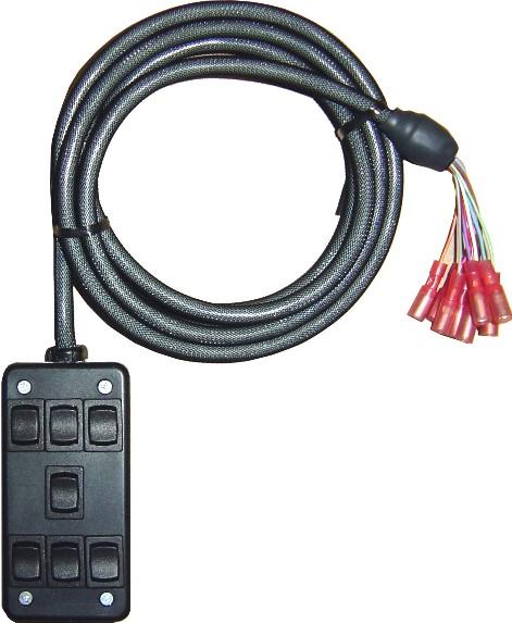 """AVSARC-7-BK Black 7 switch box rocker switch 4""""x2""""x1"""""""