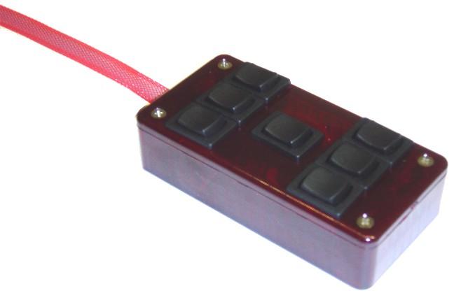 """AVSARC-7-RD Red 7 switch box rocker switch 4""""x2""""x1"""""""