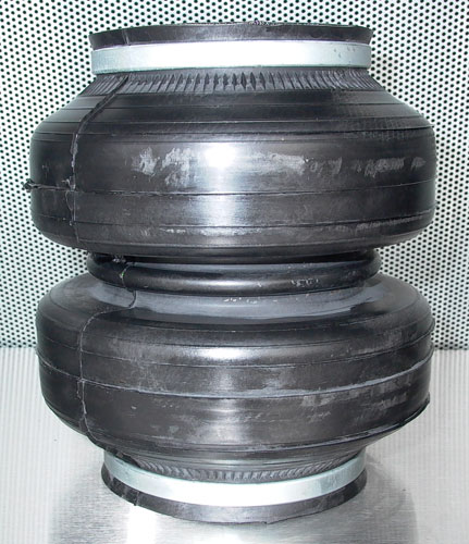 "UVAIR Power House 13"" designed for rear, over axle suspension only 3.25"" compressed, 13"" extended 7"" diameter 1/2 ports"