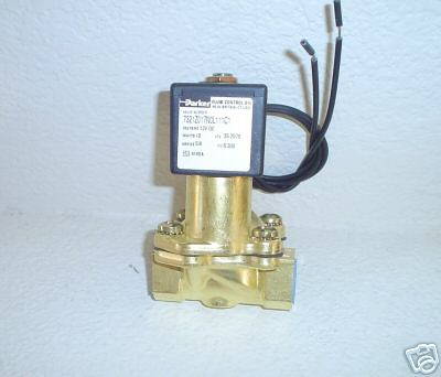 "PKR 1/2"" Parker Electric Valve 5/8"" Orifice 300 psi 7321Z017NOL111C1"