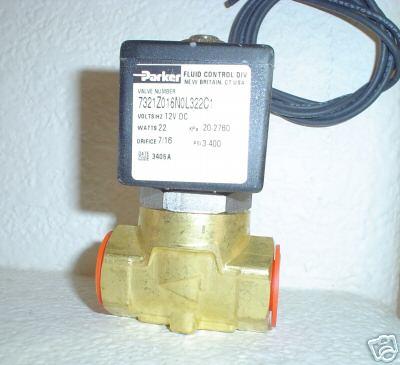 """PKR 3/8"""" Parker Electric Valve 7/16"""" Orifice 250 psi 7321Z016N0L322C1"""