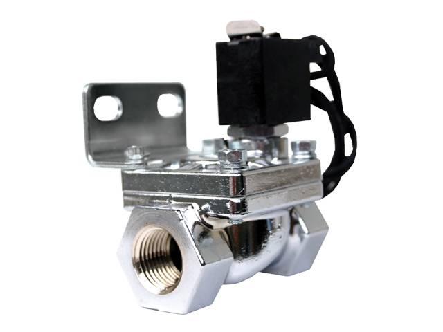 """AIR-24300 1/2"""" Chrome air valve 1/2"""" orifice, 300 psi, 5.5cv"""