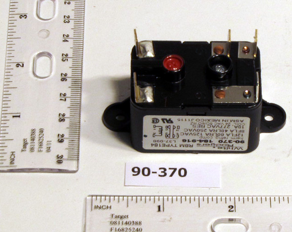 90 370 white rodgers wiring in stock white-rodgers 90-370 fan relay, type 184, 24 vac ...