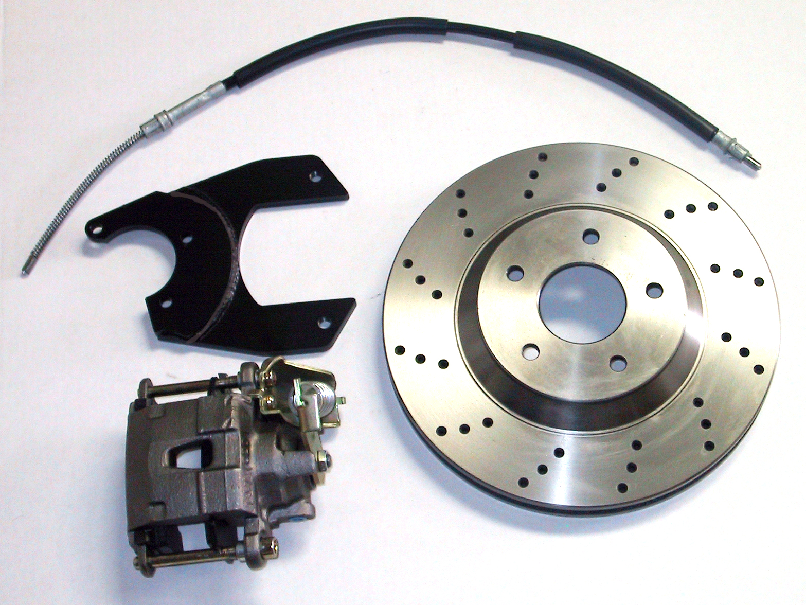 """MCG64099 13"""" Big Brake Rear Kit for 10 or 12 bolt GM rear end 5 x 4.75 Must use 17""""+ rims **Cross Drilled Rotors**"""