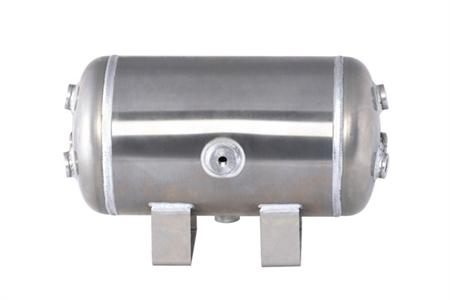 "Air-Zenith 3 Gallon Alum air tank 8 ports (4) 1/2"" ports (4) 1/4"" ports 16""L x 8""D 300psi"
