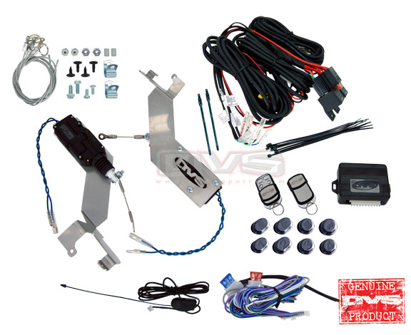 AVSSDKGM88-8 Bolt in Door Actuators w/. Wiring Harness and 8 Channel Remote System