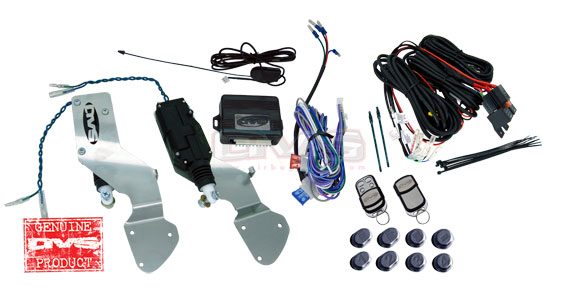 AVSSDKGM94-8 Bolt in Door Actuators w/. Wiring Harness and 8 Channel Remote System