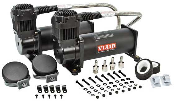 "VIA44442 Viair 444C ""Stealth Black"" Dual Pack (2) 444C 200psi Stealth Black Compressors 100% Duty @100PSI VIA444C"