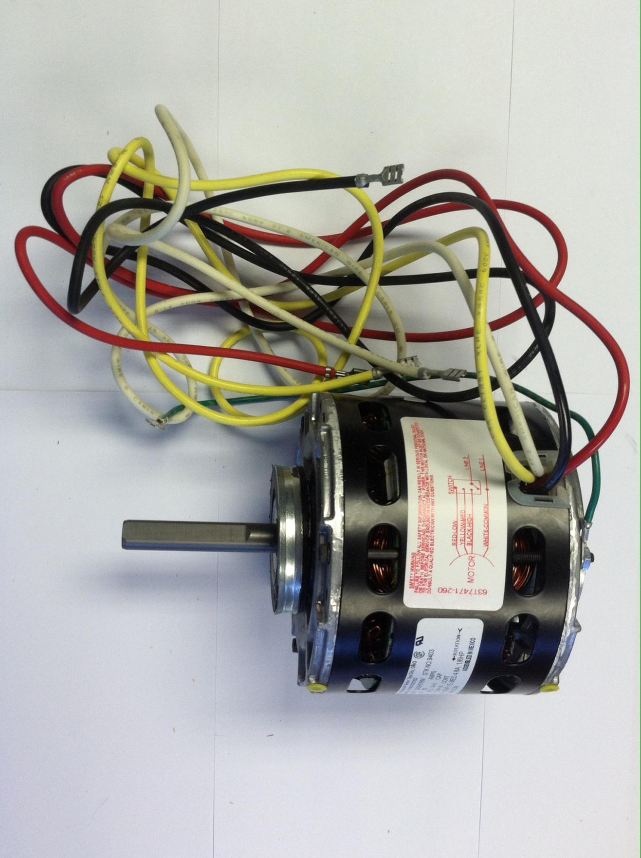 In stock lennox 32868 p 8 9662 115v 1 5 hp multi speed for Multi speed blower motor