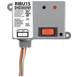 in stock rib relays ribu1s enclosed pilot relay 10 amp spst n o override wi