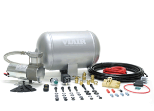 VIA10000 Viair Ultra-Light Duty On Board Air System 1) 1.0 Gallon Viair Air Tank (1) 98C model Viair Air Compressor (1) Pressure Switch with Relay (85 PSI on, 105 PSI off)