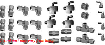 "LRD 3/8 X 1/2"" ""NUMATICS"" Fitting Pack for tank mounted valves consists of: 4 1/2 x 1/4 reducers 4 3/8 street tee's 4 3/8 x 1/2 hex nipples 4 3/8 hex nipples 4 3/8 NPT x 1/2 tube 90's 10 3/8x1/2 straight male connectors 4 3/8 x 1/2 tube x 1/4 male NPT 4 1/8 female NPT x 1/4 tube"
