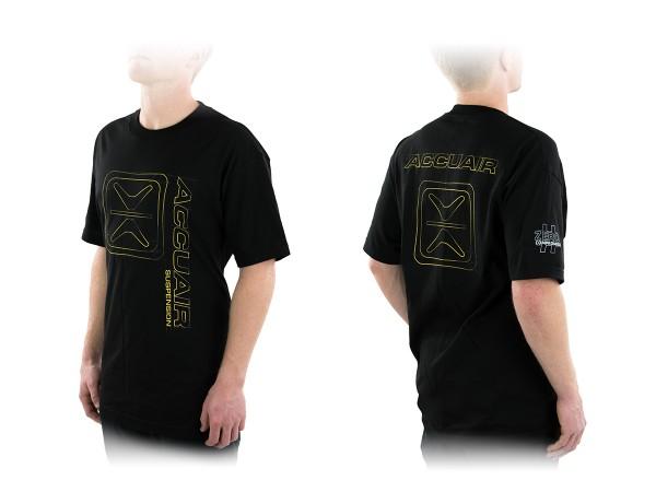 """ACCUAIR AA-TEE-BLK-ENGR 2XL AccuAir """"Engineered"""" Design Black T-Shirt 2XL"""