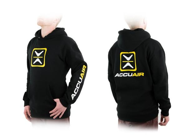 """ACCUAIR AA-HOOD-BLK-OG S AccuAir """"O.G."""" Design Black Hoodie Sweatshirt S"""