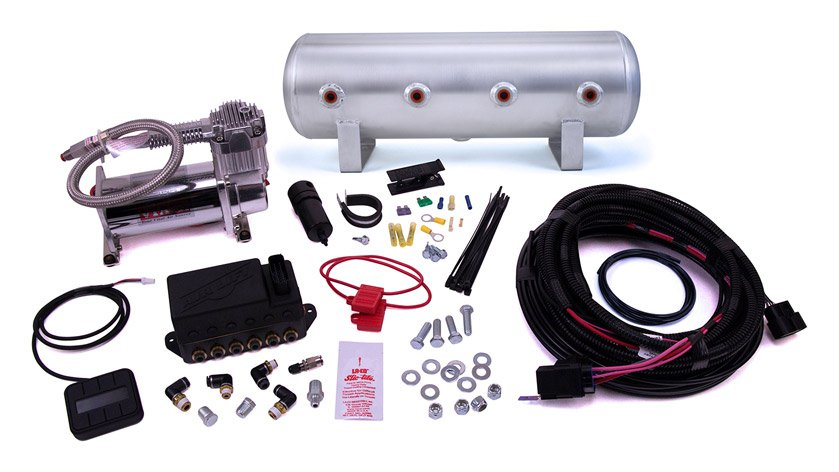 "AIR-27674 Airlift Auto Pilot V2 Digital Air Management, (1) 2.5 Gallon Aluminum Tank, (1) Viair 444C Compressor, 1/4"" Airline"