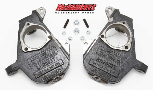 "MCG33004 Drop Spindles for 1999-2006 GM Truck 1500 & 2001-2006 GM SUV Tahoe, Yukon, Escalade, Denali, ESV, EXT., Suburban, XL, & Avalanche (2WD/4WD/AWD) 17""+ Wheels"