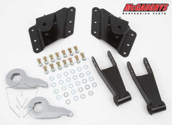 "MCG33080 2""/4"" or 2""/5"" Economy Kit for 2002-2008 GM Truck 3500 Dually - 8 Hole Factory Hanger (2WD/4WD)"