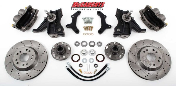 "MCG33157 13"" Big Brake Kit 73-87 Chevy Truck 2wd 1/2 Ton 13"" Front Disc Kit w/ 2.5"" spindles (5x5 Lug Pattern ) **must use 17""+ rims** **Cross Drilled**"