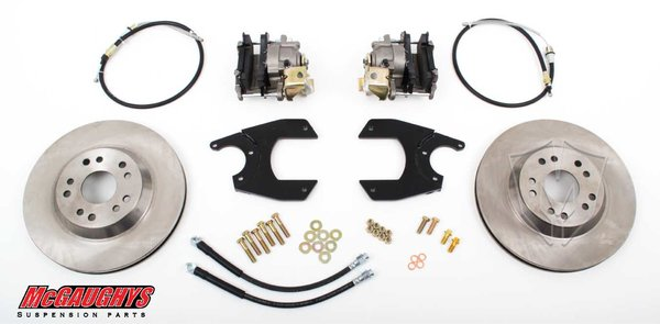 """MCG64098 13"""" Big Brake Rear Kit for 10 or 12 bolt GM rear end 5 x 4.75 Must use 17""""+ rims"""