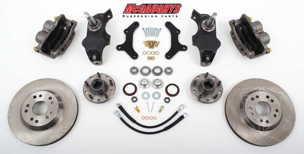 """MCG63257 13"""" Big Brake Kit 55-57 Chevy Car, 13"""" Front Disc Kit w/ 2"""" spindles (must use 17""""+ rims)"""