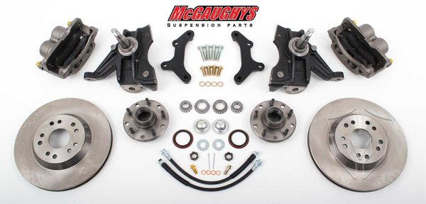 "MCG63149 5 LUG 13"" Front Big Brake Kit for 63-70 C10 w/. 2.5"" drop spindles. (5 x 4.75) Must use 17""+ Wheels"