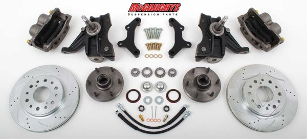 "MCG 63311 6 LUG 13"" Front Big Brake Kit for 63-70 C10 w/. 2.5"" drop spindles. **cross drilled**"
