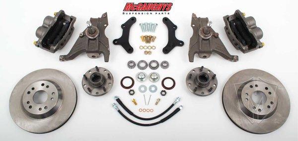 """MCG64079 13"""" Big Brake Kit 79-81 Camaro, 13"""" Front Disc Kit w/ 2""""spindles"""
