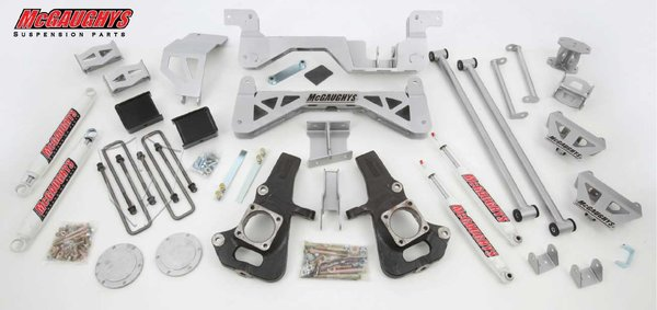 "MCG52050 7"" Premium Lift Kit for 2002-2010 GM 2500 (4WD, Diesel) (Silver Powdercoat)"