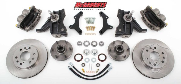 MCG63312 1971-72 C-10 13 Front Disc Kit w/ 2.5 Drop Spindles (6 LUG) must use 17 + rims