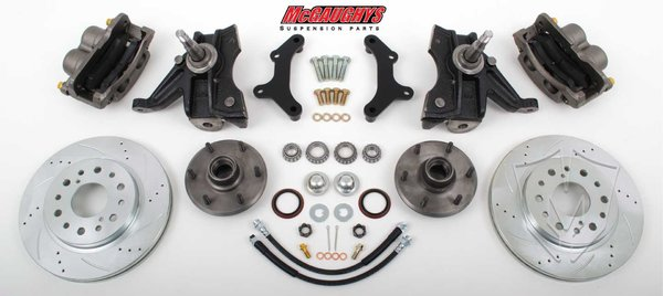 MCG63313 1971-72 C-10 13 Front Disc Kit w/ 2.5 Drop Spindles (6 LUG) must use 17 + rims **cross drilled**