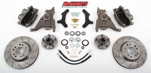 """MCG64078 13"""" Front Disc Brake Kit for 1970-1978 Chevy Camaro (5x4.75, Cross-Drilled)"""