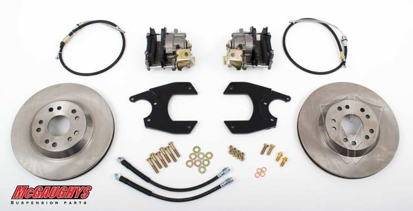 """MCG64100 13"""" Rear Disc Brake Kit for factory 10 or 12 bolt rear-end (5x5, Smooth)"""