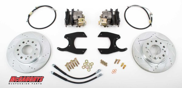 "MCG64301 13"" Rear Disc Brake Kit for factory 12 bolt rear-end (6-LUG, Cross-Drilled)"