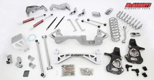 "MCG50128 7"" Premium Lift Kit for 2001-2006 GM SUV 1500 (2WD, Not Auto Leveling) (Silver Powdercoated)"