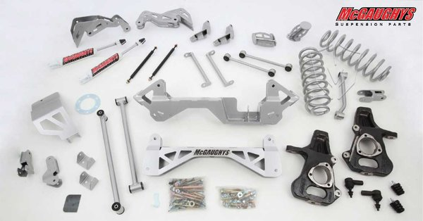"MCG50135 7"" Premium Lift Kit for 2001-2006 GM SUV 1500 (4WD, Auto Leveling) (Silver Powdercoated)"