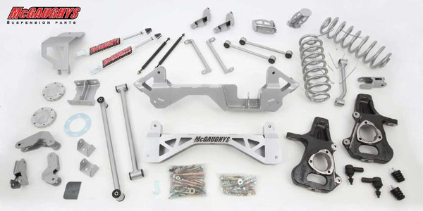 "MCG50138 7"" Premium Lift Kit for 2001-2006 GM SUV 1500 (4WD, Not Auto Leveling) (Silver Powdercoated)"