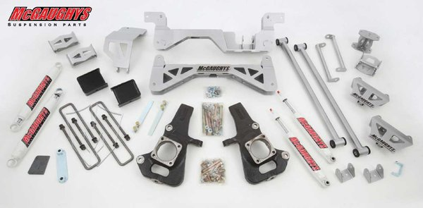 "MCG52001 7"" Premium Lift Kit for 2002-2010 GM 3500 (2WD, Diesel) (Silver Powdercoated)"