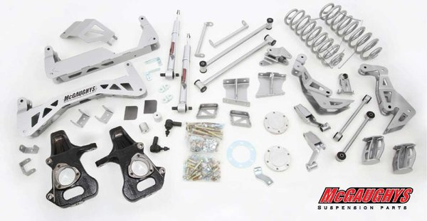 "MCG50738 7"" Premium Lift Kit for 2007-2013 GM SUV 1500 (4WD, Not Auto Leveling) (Silver Powdercoated)"