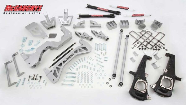 "MCG52301 7"" Premium Lift Kit for 2011-2016 GM Truck 3500 (2WD) (Silver Powdercoated)"
