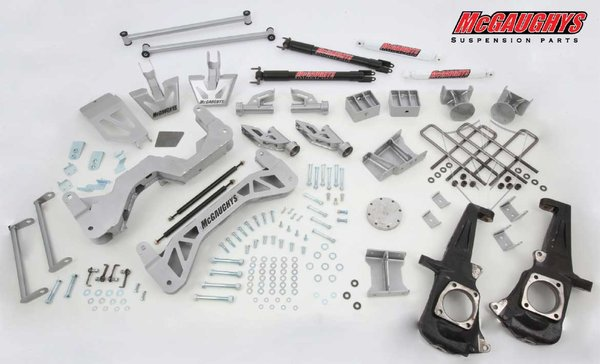 """MCG52353 7"""" Premium Lift Kit for 2011-2016 GM 2500 (4WD, Gas Motor) (Silver Powdercoated)"""
