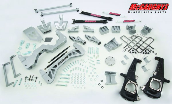 """MCG52354 7"""" Premium Lift Kit for 2011-2016 GM Truck 3500 (4WD, Gas Motor) (Silver Powdercoated)"""