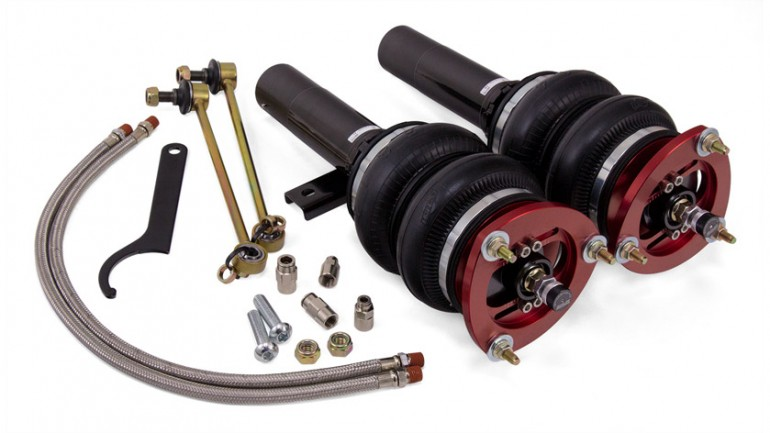 "AIR-78548 VW Golf SportWagen 2015-2016 KIT FEATURES Drop = 116mm/4.5"" Double bellows-style air springs 30-level adjustable, threaded body, monotube struts Adjustable camber plates Modifications Required: NONE"