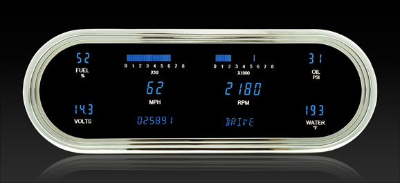 DAKVFD3-1008-B Universal Recessed Oval Instrument System BLUE DISPLAY