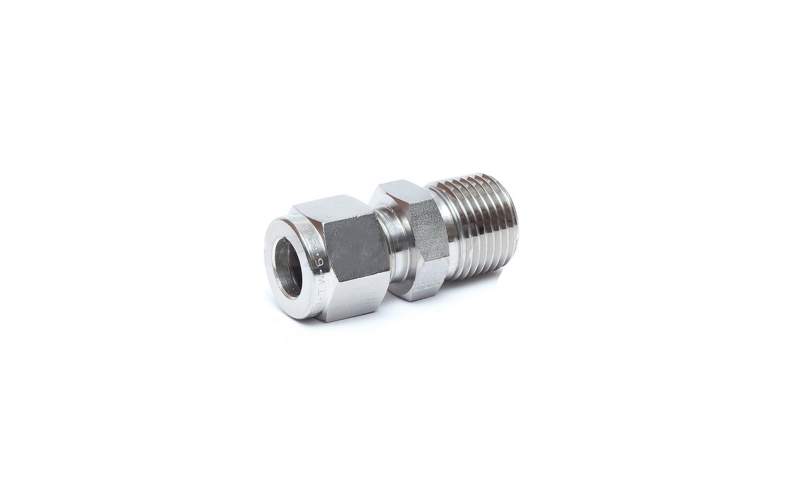 """PKR6MSC4N-316 Hardline Compression Fitting 3/8""""Tube - 1/4""""NPT"""