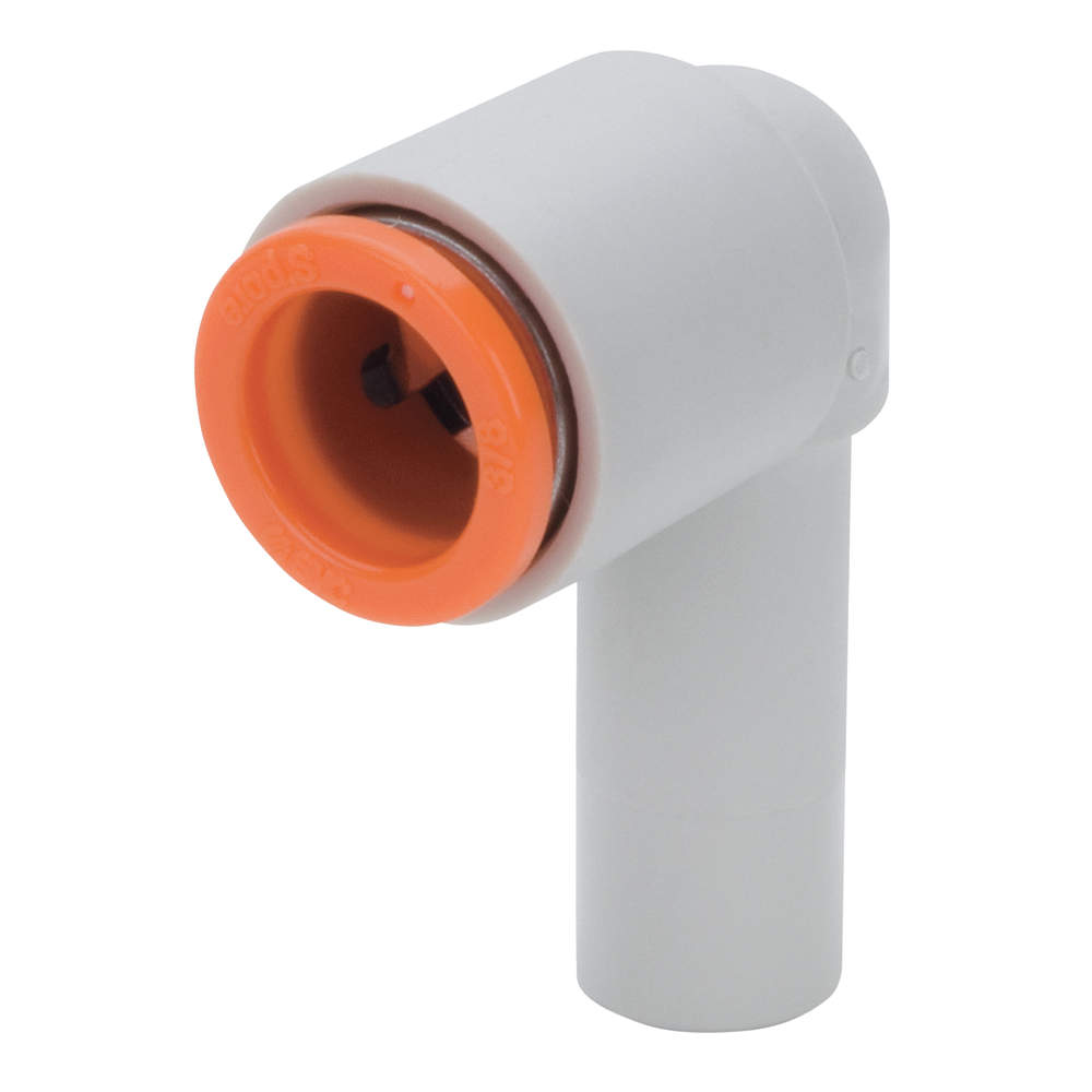 """SMCKQ2L07-09A 3/8"""" stem x 1/4""""ptc 90degree **** FOR USE WITH ACCUAIR MANIFOLD ****"""