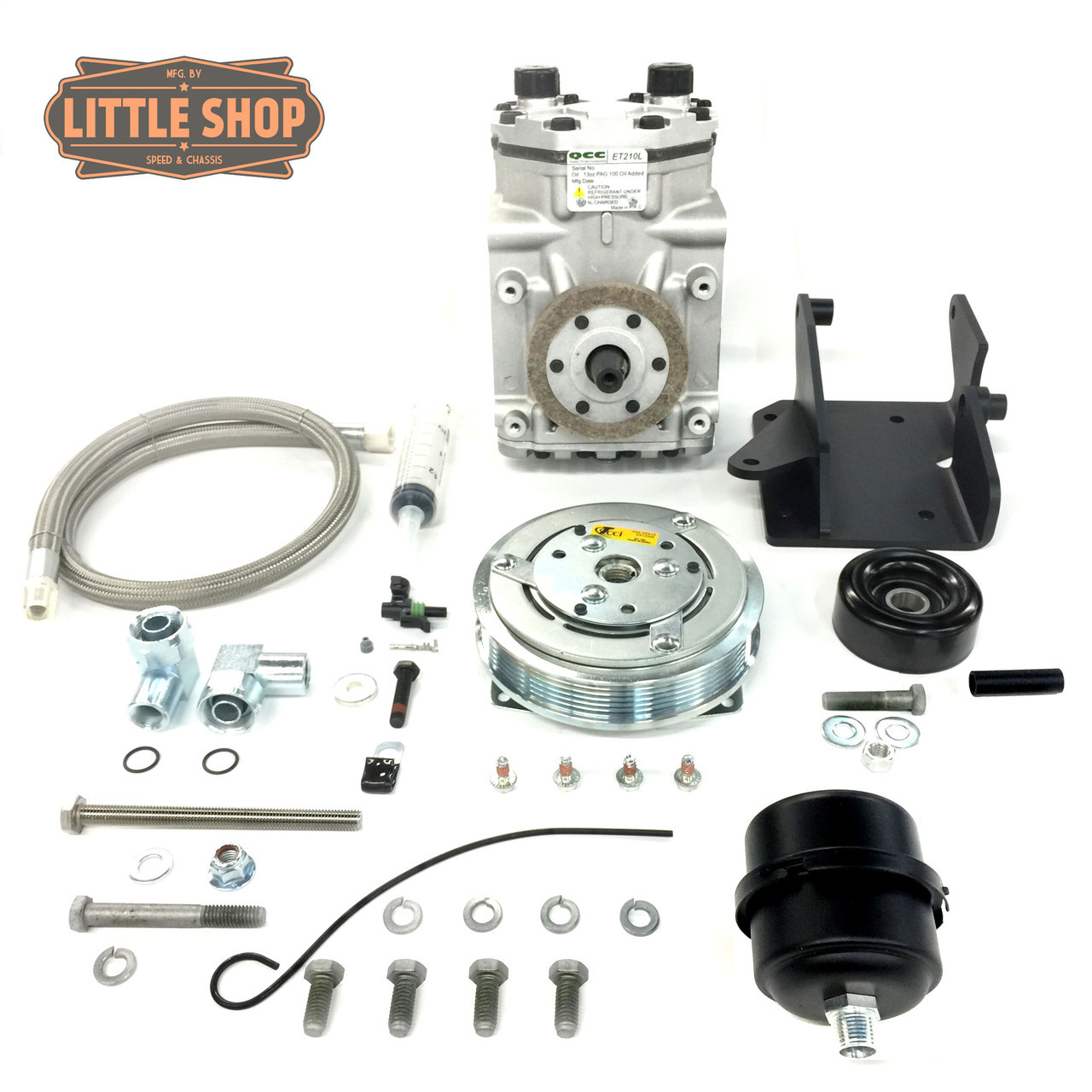 LSMFG-Pre V-EDC 90'-95' GM 4.3, 5.0, 5.7 Pre-Vortec Engine Driven Compressor Kit