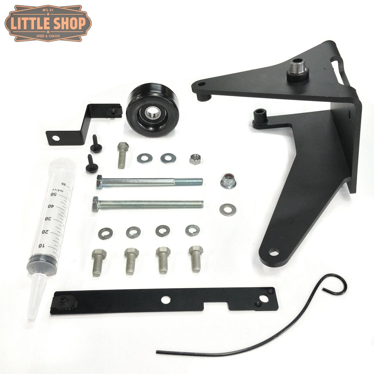 LSMFG-LS-JYD 99'-13' GM 4.8, 5.3, 6.0, 6.2 LS Engine Driven Compressor Junkyard Dog Kit (Bracket, Hardware and pulley only)