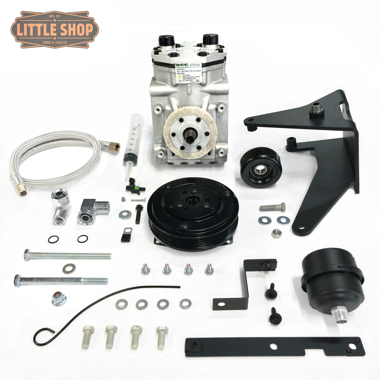 LSMFG-LS-EDC 99'-13' GM 4.8, 5.3, 6.0, 6.2 LS Engine Driven Compressor Kit