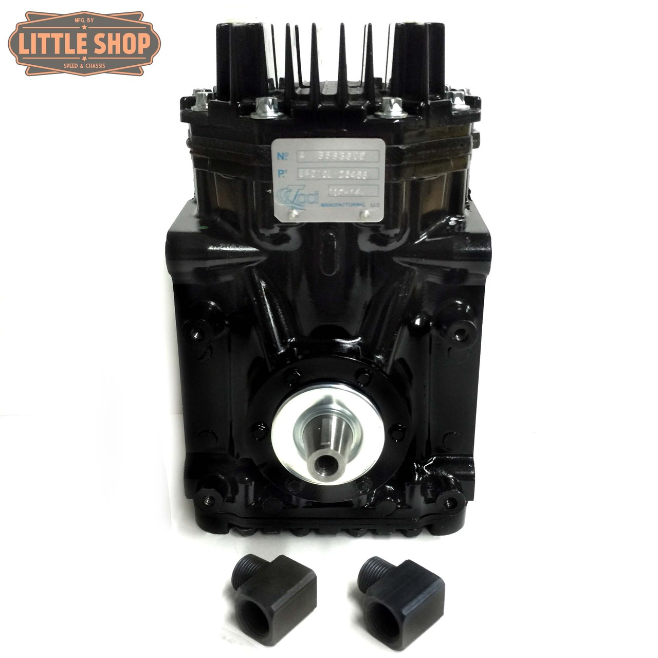 LSMFG-LS-SLM 99'-13' GM 4.8, 5.3, 6.0, 6.2 LS Engine Driven Compressor Kit (same kit as EDC kit but with upgraded SLM compressor)