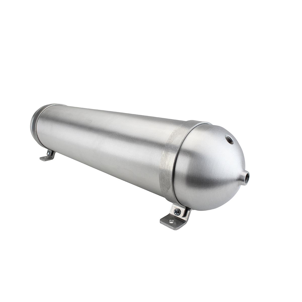 """SA528038-01 Seamless Tanks Aluminum Air Tank 28"""" Length 5.562"""" Diameter, (4) 3/8"""" Ports (1) 1/4"""" Port, 200psi Rated, Actual Volume 2.42 Gallons"""